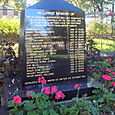 Waterloo: Hillsborough memorial outside Crosby Library