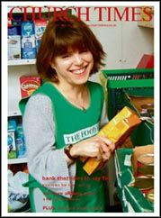 Foodbanks on the Church Times front cover