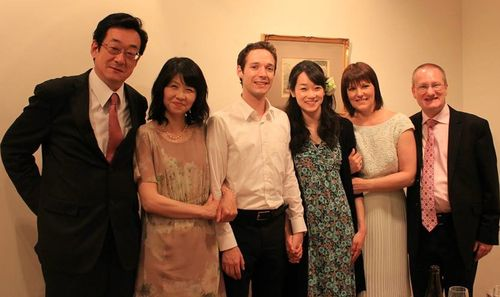 Family gathering on Gary and Naoko's wedding day