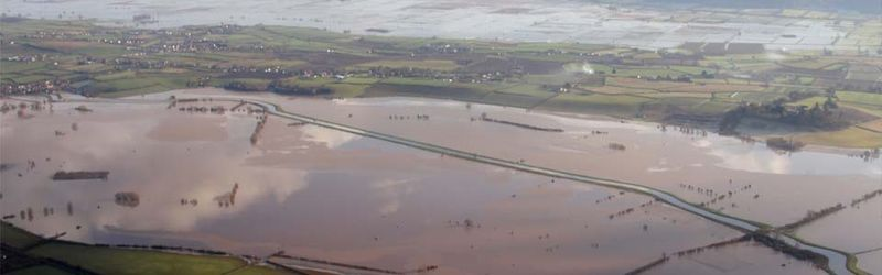 The flooded Somerset Levels