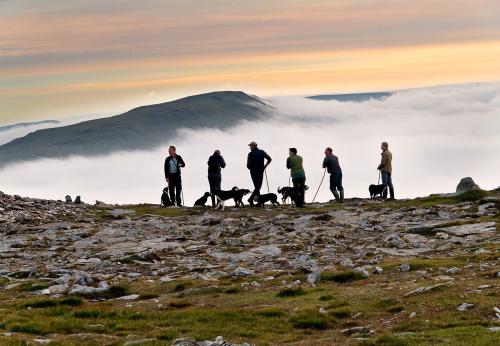 Gathering the mountain, Ingleborough 2021. Photograph: John Bentley