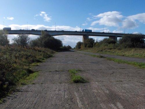 M60 Barton Viaduct from old Barton Locks road